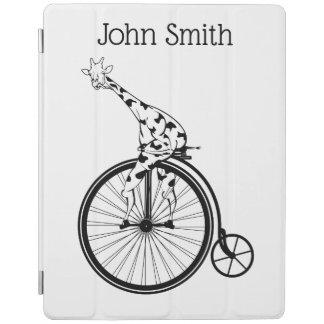 Giraffe, die ein Fahrrad reitet iPad Hülle