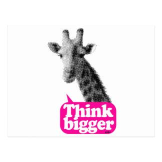 Giraffe - dünnes größeres postkarte