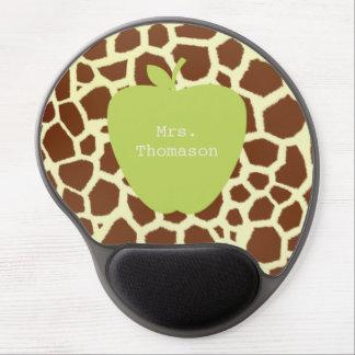 Giraffe + Grünes Apple-Lehrer-Gel Mousepad