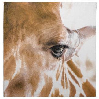 Giraffe hallo stoffserviette