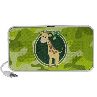 Giraffe hellgrüne Camouflage Tarnung iPod Speaker