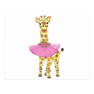 Giraffe im Ballettröckchen Postkarte