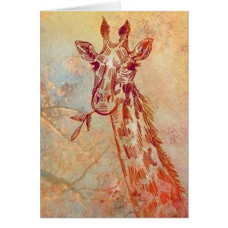 Giraffe Karten