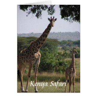 Giraffe, Kenia-Safari Karte