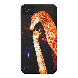 Giraffe leuchten Nachtphotographie-Festivalkunst iPhone 4 Hüllen