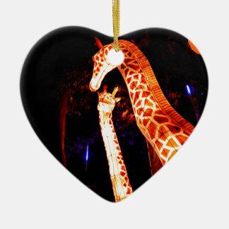 Giraffe leuchten Nachtphotographie-Festivalkunst Keramik Ornament