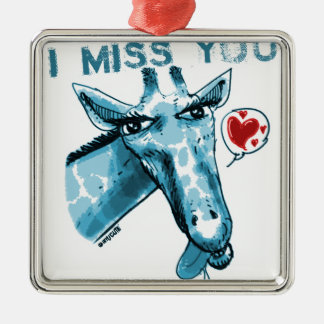 giraffe_miss you_blue silbernes ornament