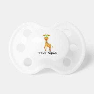 Giraffe mit Gläsern Schnuller