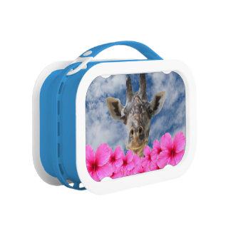 Giraffe mit Hibiskus-Mittagessen-Kasten Brotdose