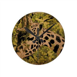 Giraffe Runde Wanduhr