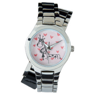 Giraffe + sadie = beste Freunde für immer Armbanduhr