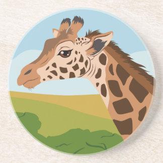 Giraffe Sandstein Untersetzer