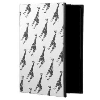 Giraffe schwarzes und graues Silhoutte