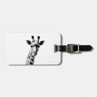 Giraffe Schwarzweiss Kofferanhänger