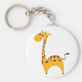 Giraffe Standard Runder Schlüsselanhänger