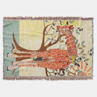 Giraffe u. kleine Vogel-sonnige Wurfs-Decke Decke