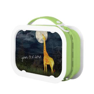 Giraffe und Mond kundenspezifischer Brotdose