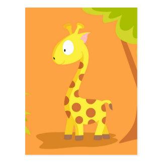 Giraffe von meinem Welttiere serie Postkarte