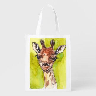 Giraffe Wiederverwendbare Einkaufstasche