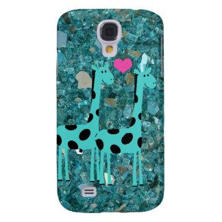 Giraffen auf Türkishintergrund Samsung-Galaxie S4 Galaxy S4 Hülle