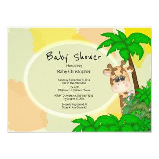 Giraffen-Babyparty 14 X 19,5 Cm Einladungskarte