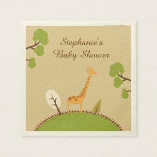 Giraffen-Babyparty Papierservietten