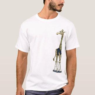 Giraffen-Bogen-Krawatten-Typ T-Shirt