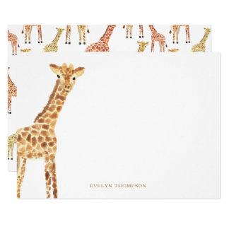 Giraffen-Briefpapier 11,4 X 15,9 Cm Einladungskarte