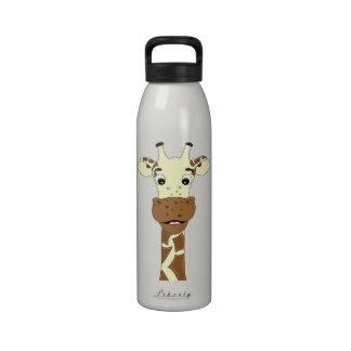 Giraffen-Cartoon-Wasserflasche