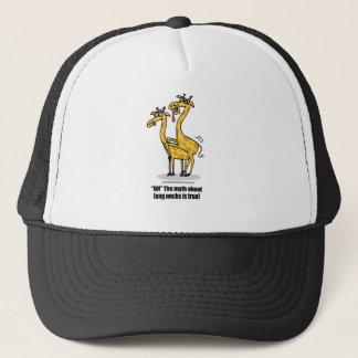 Giraffen, die, boinking Giraffen verbinden Truckerkappe