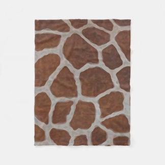 Giraffen-Druck-Muster-Hintergrund Fleecedecke
