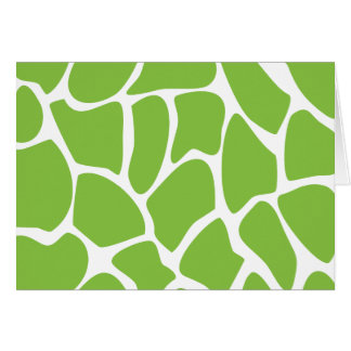 Giraffen-Druck-Muster. Safari-Grün Karte