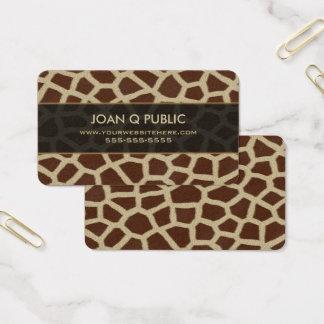 Giraffen-Druck-Muster Visitenkarte