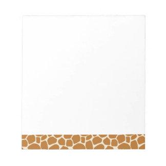 Giraffen-Druck-Notizblock Notizblock