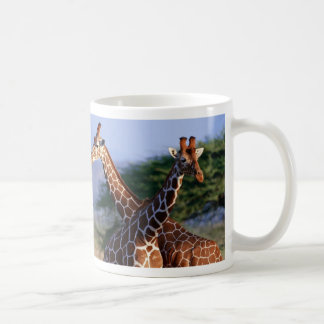 Giraffen gekreuzt, Mutter + Kind Kaffeetasse