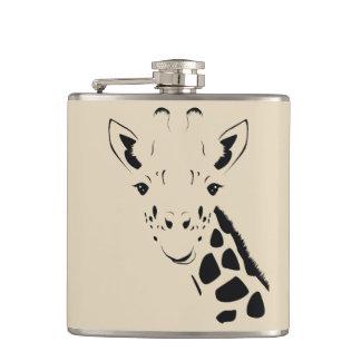 Giraffen-Gesichts-Silhouette Flachmann