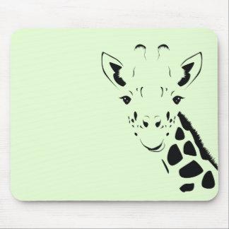 Giraffen-Gesichts-Silhouette Mauspads