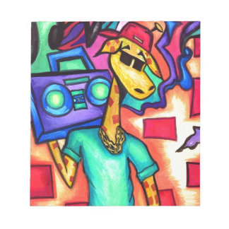 Giraffen-Graffitikünstler Notizblock