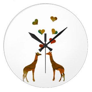 Giraffen Große Wanduhr