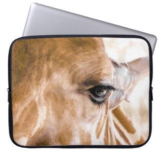 Giraffen-hallo Laptop-Hülse Laptopschutzhülle