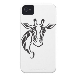Giraffen-Haupttätowierungs-Kunst iPhone 4 Case-Mate Hülle