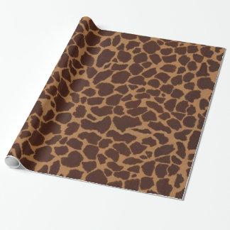 Giraffen-Haut-Druck-Muster-Blätter Geschenkpapier