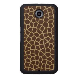 Giraffen-Haut Handyhülle Aus Holz