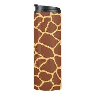Giraffen-Haut-Muster Browns gelbes Thermosbecher