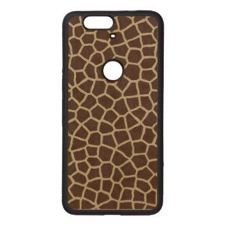 Giraffen-Haut Nexus 6P Holzhülle