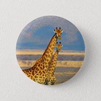 Giraffen in der schönen Naturlandschaft Südafrikas Runder Button 5,1 Cm