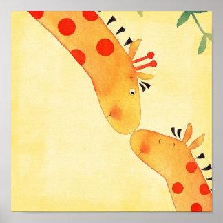 Giraffen-Kinderzimmer-Wandhängen Poster