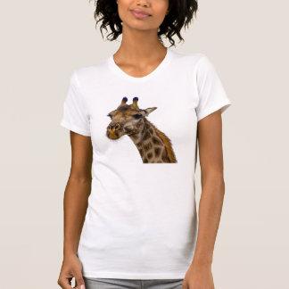 Giraffen-kommender und gehender T - Shirt
