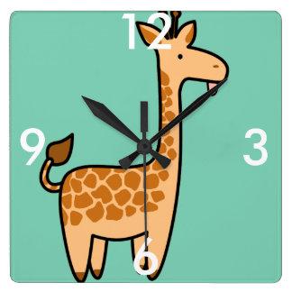 Giraffen-kundenspezifische quadratische Uhr