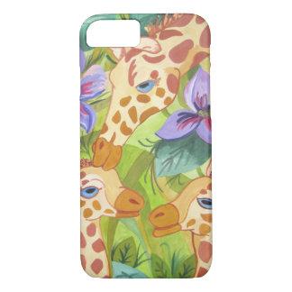 Giraffen-Küsse, Mutter und Babys iPhone 8/7 Hülle
